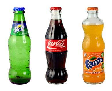Кока-кола, фанта, спрайт (стекло)