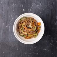 Гречневая лапша+овощи+соус б-ланч