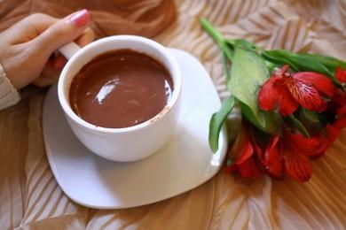 Горячий шоколад  молочный