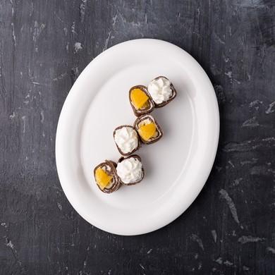 Шоколадный ролл с апельсином