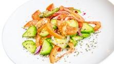 Овощной салат со сметаной б.-ланч