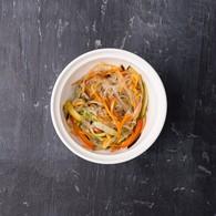 Стеклянная лапша + овощи + соус б.-ланч
