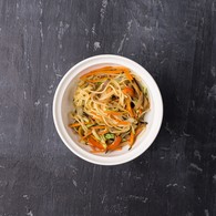 Яичная лапша+овощи+ соус