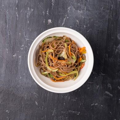 Гречневая лапша+овощи+ соус